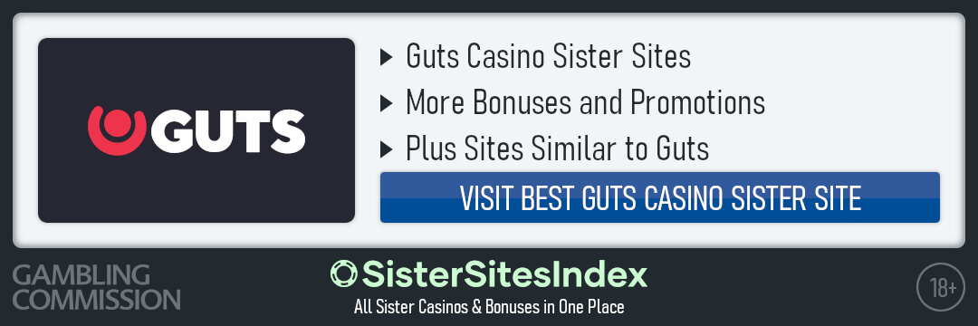 Guts Casino sister sites