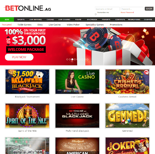 BetOnline Casino Bonus