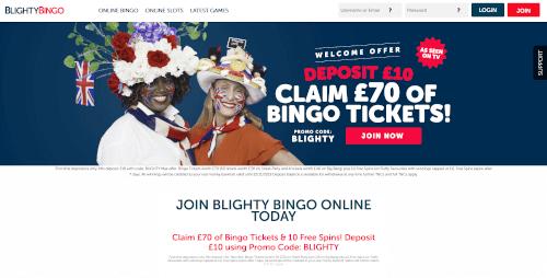 Blighty bingo Homepage