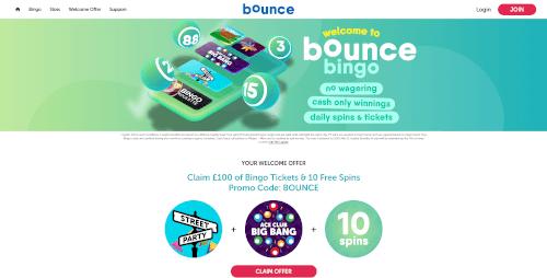 Bounce Bingo Homepage