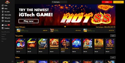 Casino Moons Homepage