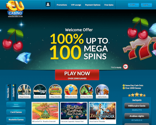 EU Casino Homepage
