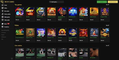 Rich Casino Games