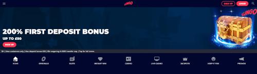 Slingo Homepage