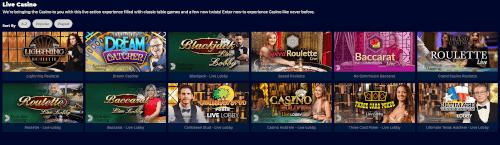 Slingo Live Casino