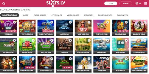 Slots LV Homepage