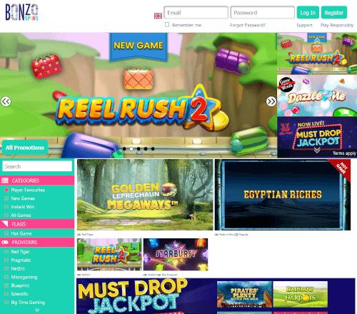 Bonzo spins Homepage