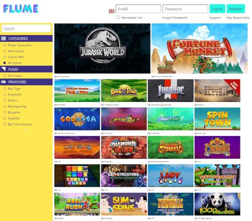 Flume Casino Games