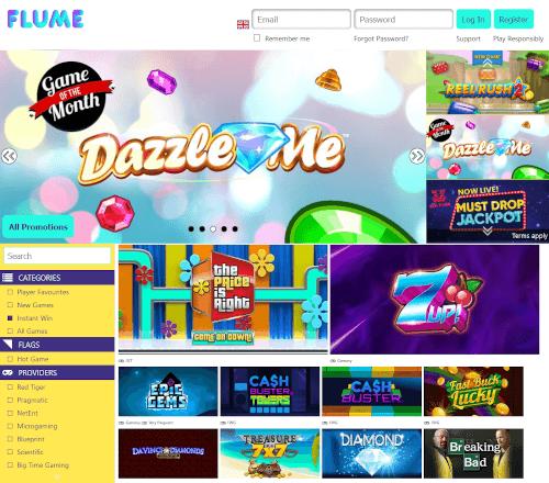 Flume Casino Homepage