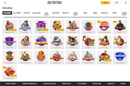 Joe Fortune Games