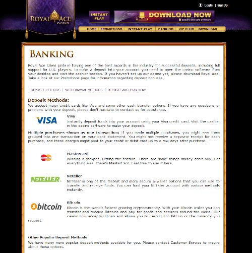 Royal ace Banking