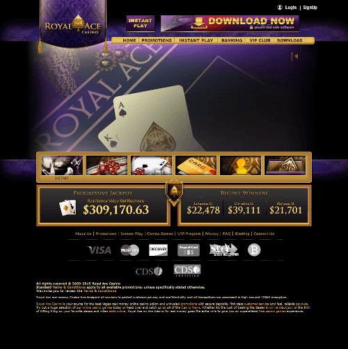 Royal ace Homepage
