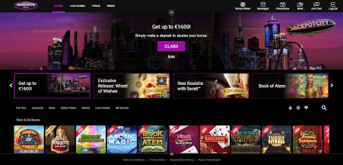 Jackpot City Homepage