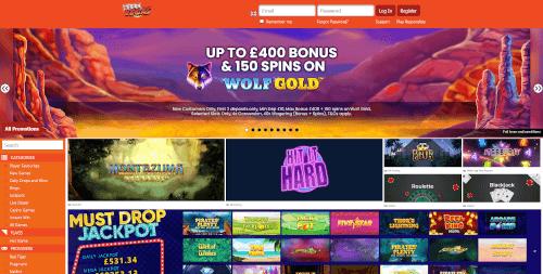 Reel Vegas Homepage
