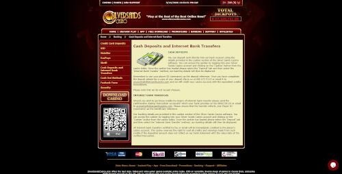 Silversands Casino Banking