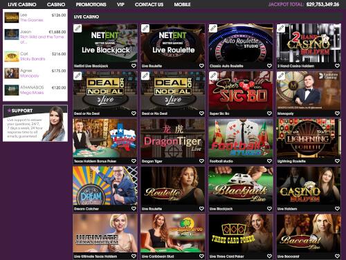 21 prive live casino