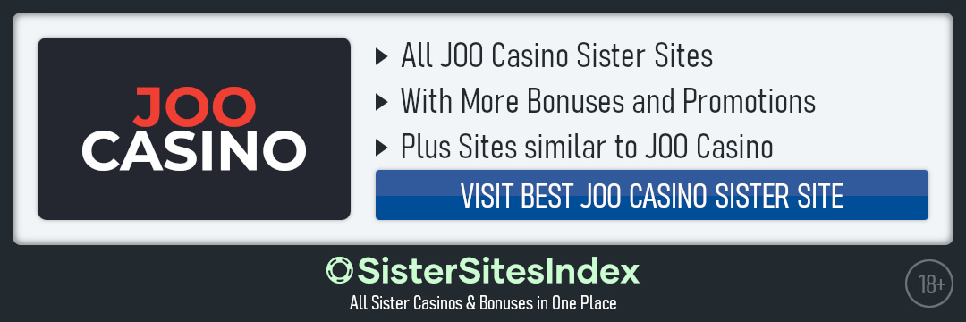 JOO Casino sister sites