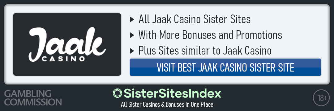 Jaak Casino sister sites