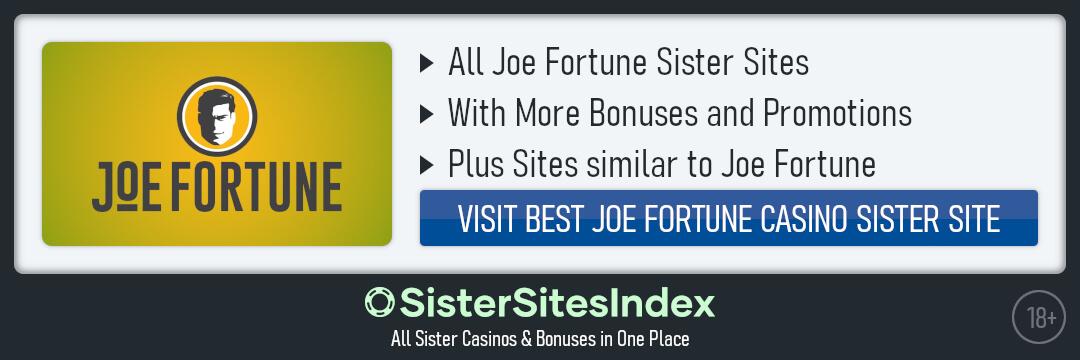 Joe Fortune sister sites