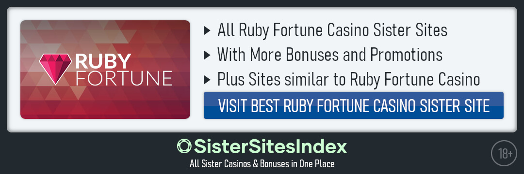 Ruby Fortune Casino sister sites
