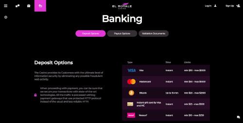 El Royale Banking