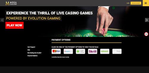 Mega Casino Banking