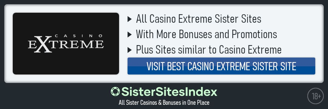 Casino Extreme sister sites