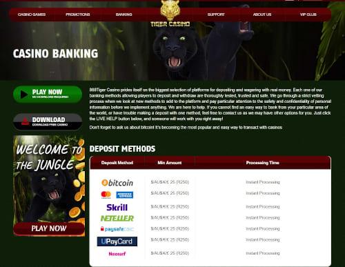 888 tiger Banking