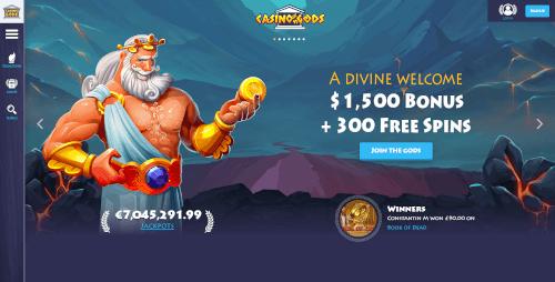 Casino Gods Homepage