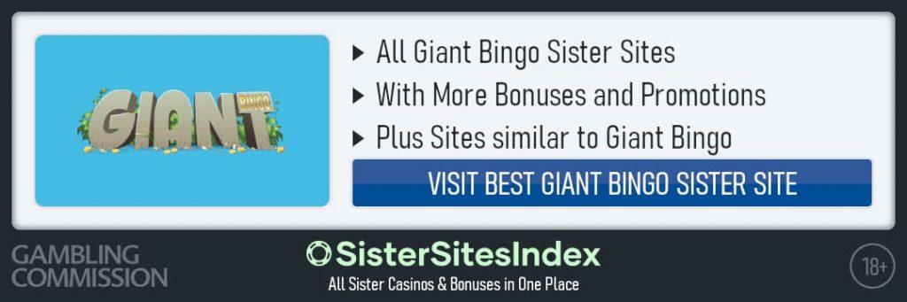 Giant Bingo sister sites
