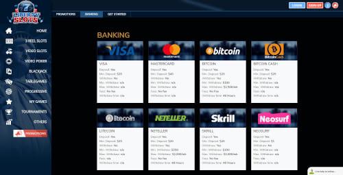 Liberty slots Banking