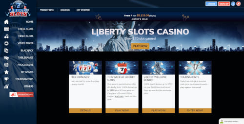 Liberty slots Casino Bonuses