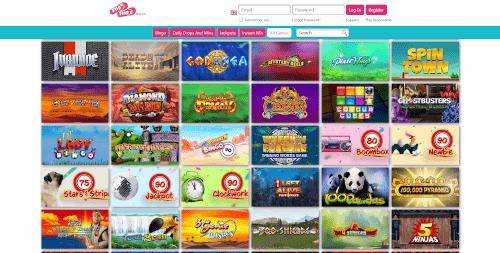 Flip Flop Bingo Games