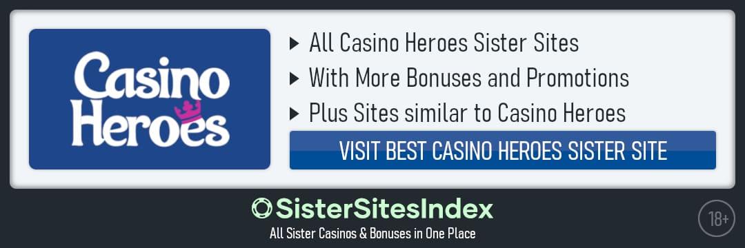Casino Heroes sister sites