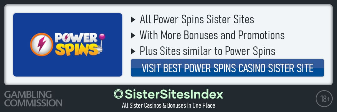 Power Spins sister sites