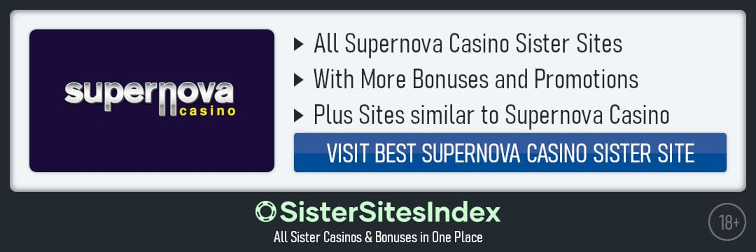 Supernova Casino sister sites