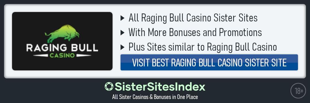 Raging Bull Casino sister sites