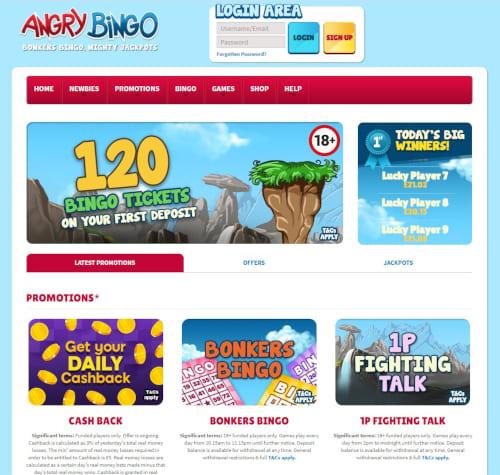 Angry Bingo Casino Bonuses