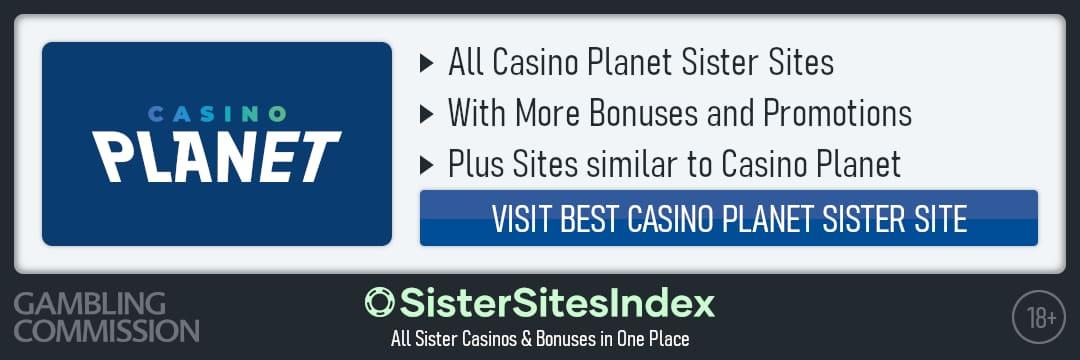 Casino Planet sister sites