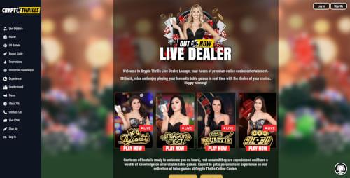 Crypto Thrills Live Dealer