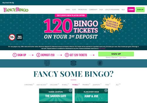 Fancy Bingo Welcome Bonus