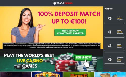 Trada Casino Bonuses