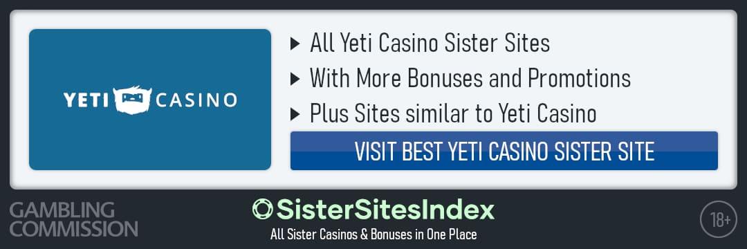 Yeti Casino sister sites