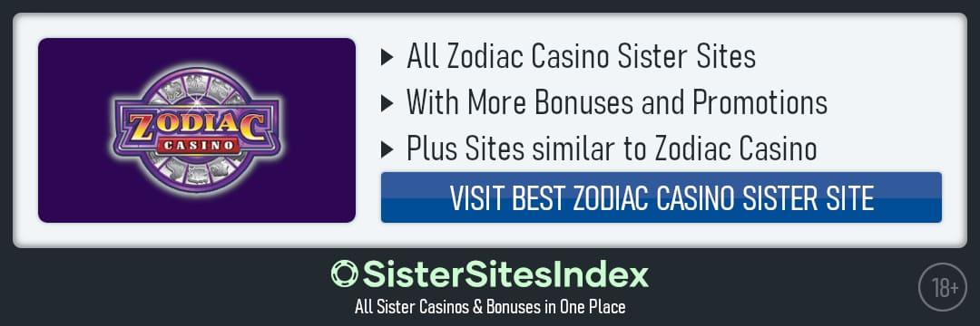 Zodiac Casino sister sites