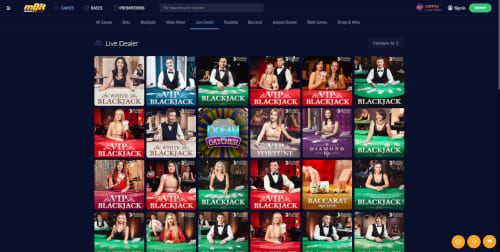 mBit Casino Live Casino