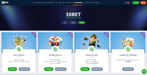 20Bet Casino Bonuses