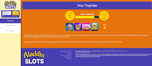 Aladdin Slots progress level