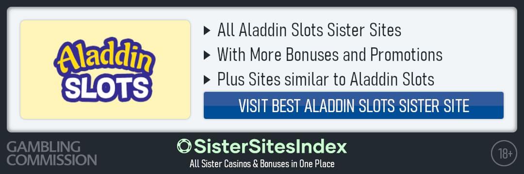Aladdin Slots sister sites