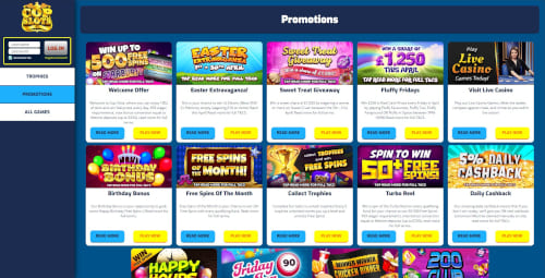 Cop Slots Casino Bonuses