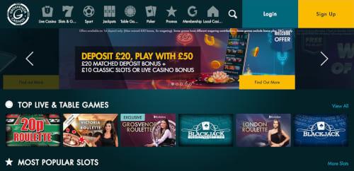Grosvenor Casinos Bonuses